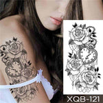 Time and Flowers - Boston Temporary Tattoos