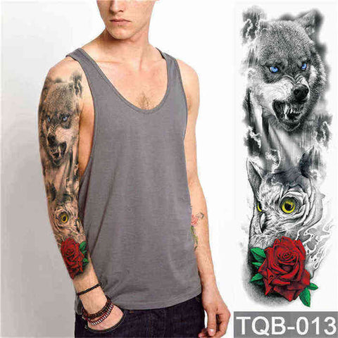 Wolf Pack - Boston Temporary Tattoos
