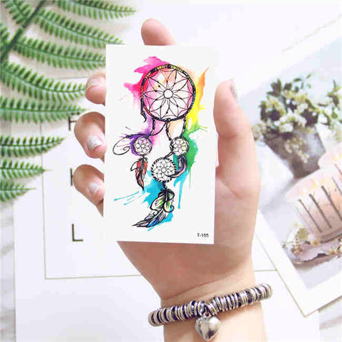 Colorful Dream Catcher - Boston Temporary Tattoos