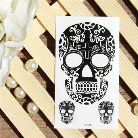 Mexican Skull - Boston Temporary Tattoos