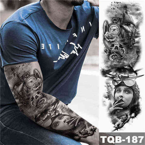 Conqueror - Boston Temporary Tattoos