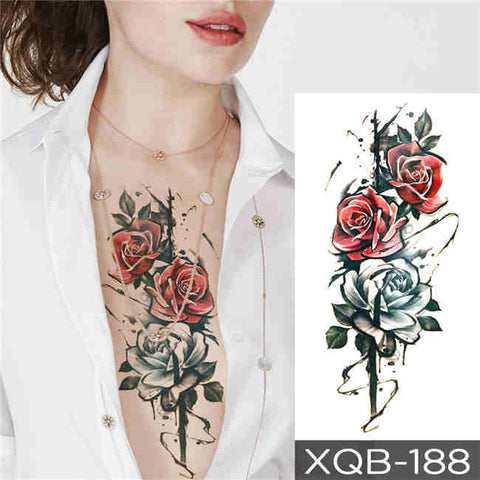 Red Roses - Boston Temporary Tattoos