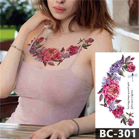Rose Garden - Boston Temporary Tattoos