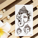 Indian Elephant - Boston Temporary Tattoos