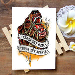 Feed The Beast - Boston Temporary Tattoos