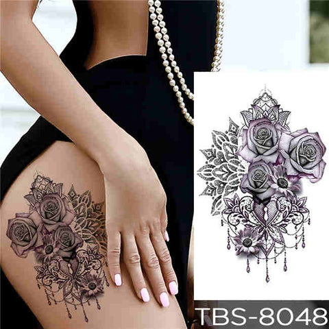 Flower Boom - Boston Temporary Tattoos