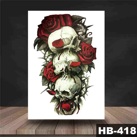 Skulls n' Roses - Boston Temporary Tattoos