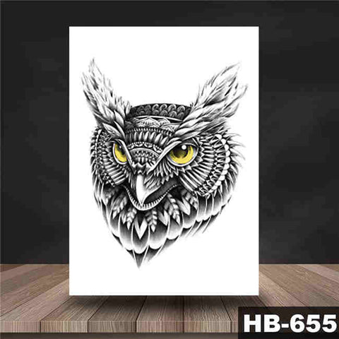 Night Owl - Boston Temporary Tattoos