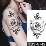 Clear Rose - Boston Temporary Tattoos