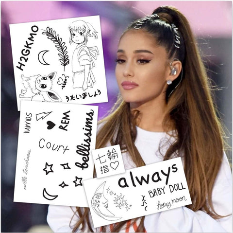 ARIANA GRANDE TEMPORARY TATTOOS - Boston Temporary Tattoos
