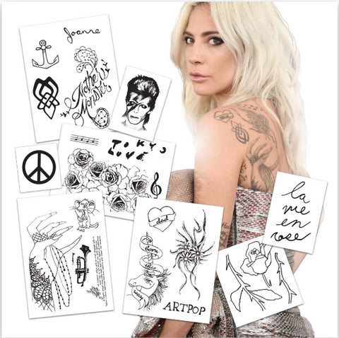 Lady Gaga Temporary Tattoos - Boston Temporary Tattoos