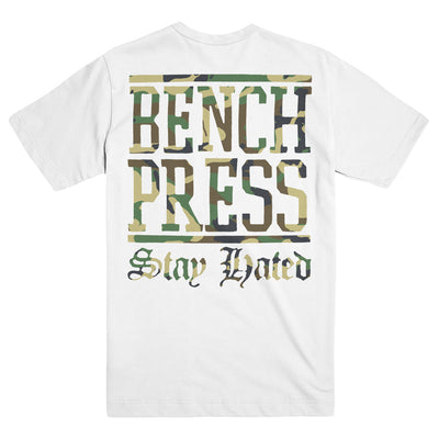 "BENCHPRESS ""Stay Camo White"" T-Shirt"