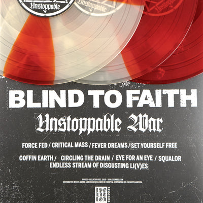 "BLIND TO FAITH ""Unstoppable War"" LP"