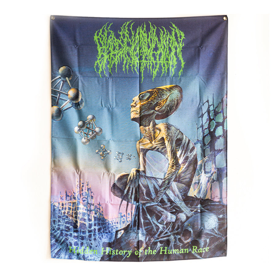 "BLOOD INCANTATION ""Hidden History Of The Human Race"" Flag"