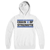 "CHAIN OF STRENGTH ""Has The Edge Gone Dull? White"" Hoodie"