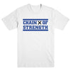"CHAIN OF STRENGTH ""Has The Edge Gone Dull? White"" T-Shirt"