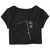 "CHELSEA WOLFE ""Kraw Scythe"" Women's Crop Top T-Shirt"