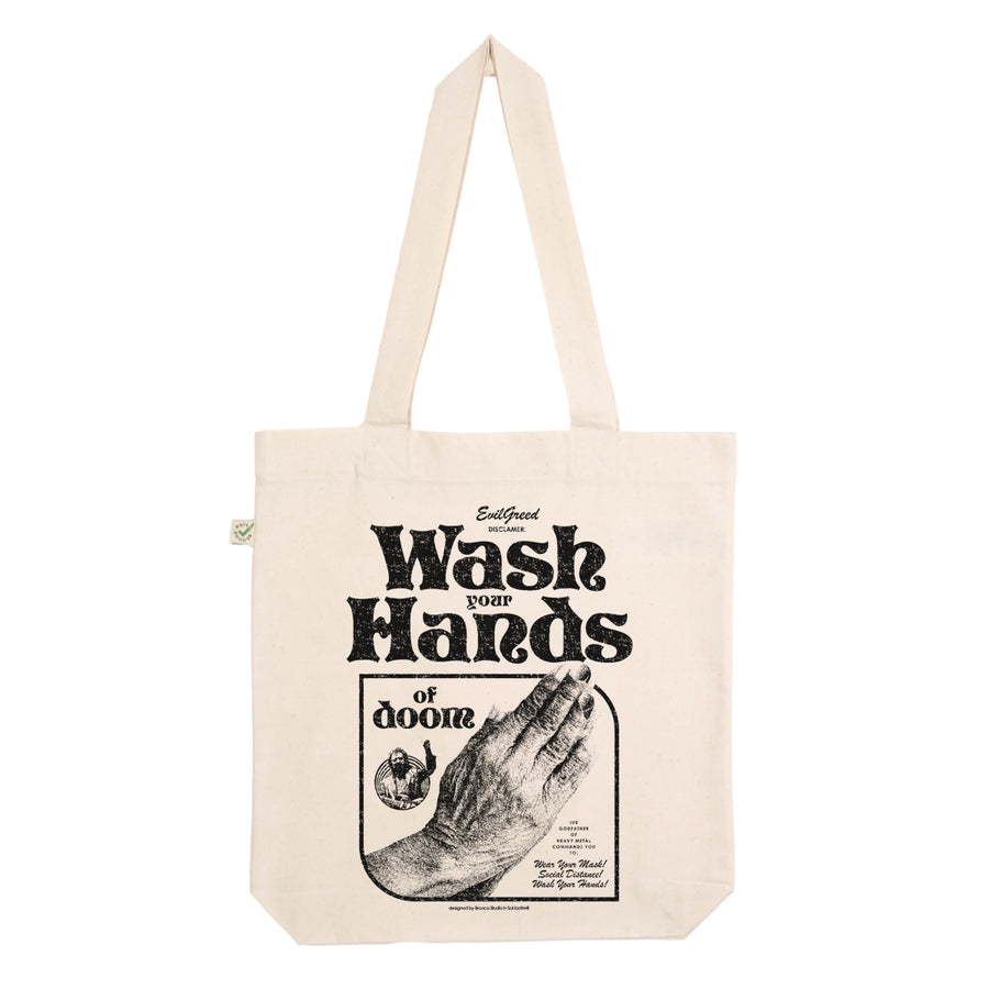 "EVIL GREED ""Hands Of Doom"" Tote Bag"