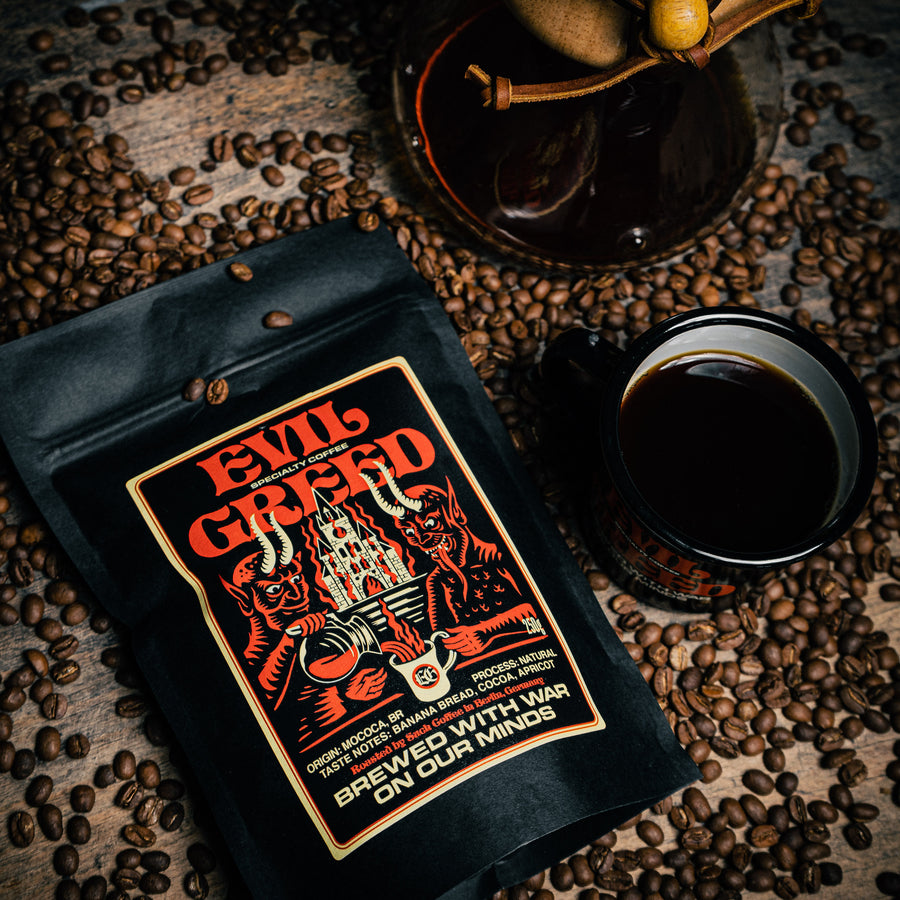 "EVIL GREED ""Specialty Coffee"" Coffee + Mug Bundle"