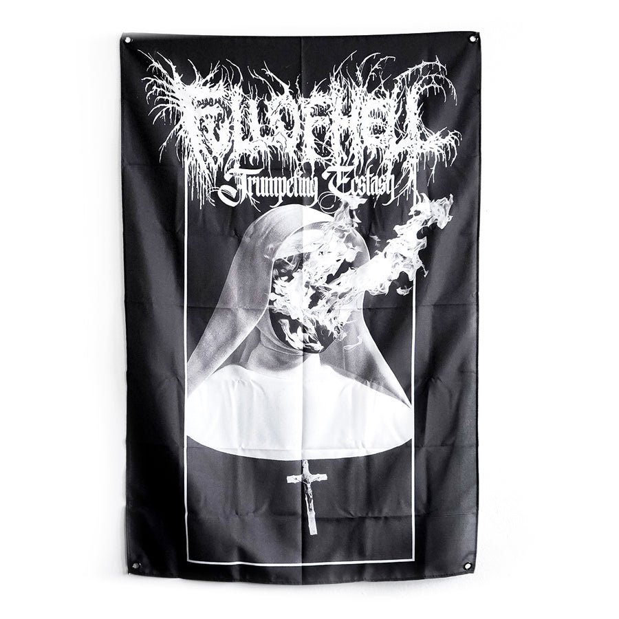 "FULL OF HELL ""Trumpeting Ecstasy"" Flag"