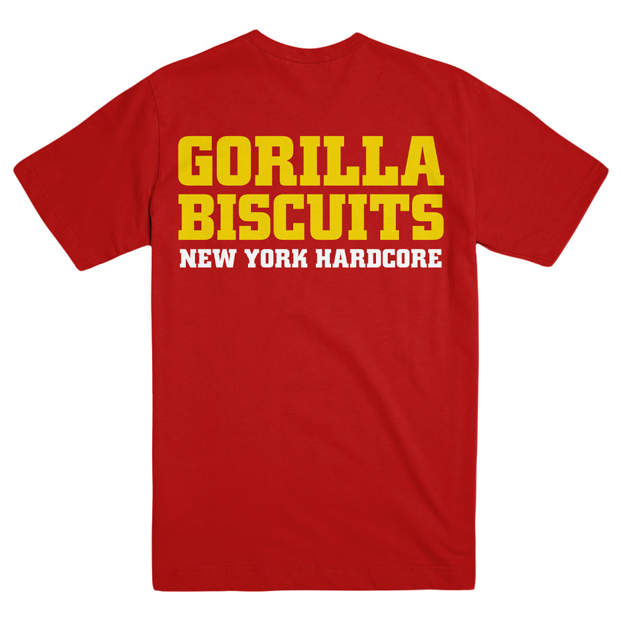 "GORILLA BISCUITS ""Hold Your Ground Red"" T-Shirt"