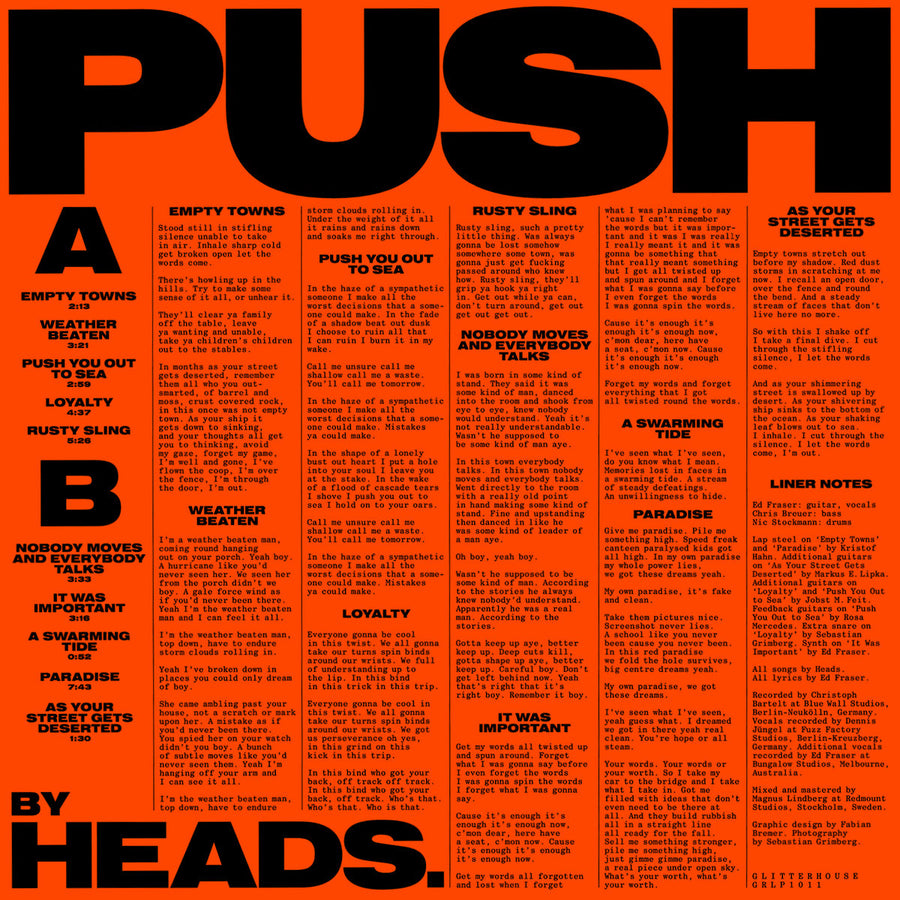 "HEADS. ""Push"" LP"
