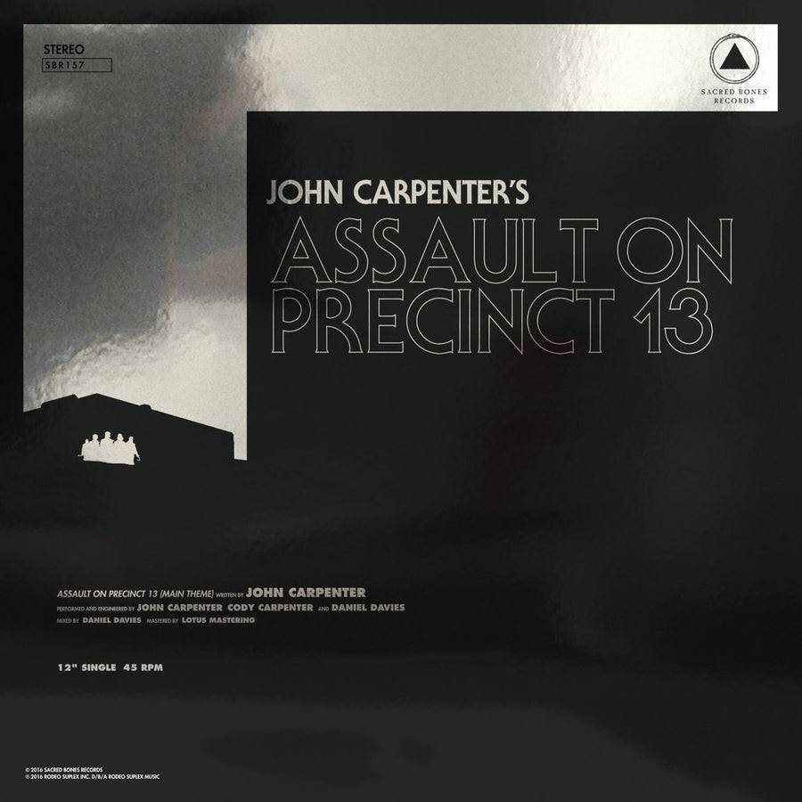 "JOHN CARPENTER ""Assault On Precinct 13 / The Fog"" 12"""