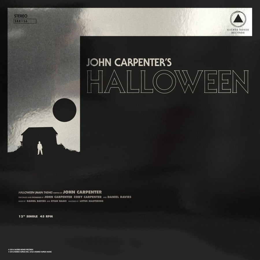 "JOHN CARPENTER ""Halloween/Escape From New York"" 12"""