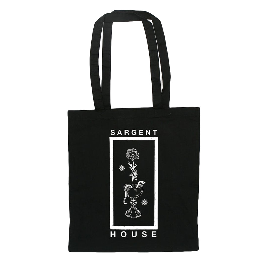 "SARGENT HOUSE ""Wine, Snakes & Roses"" Tote Bag"