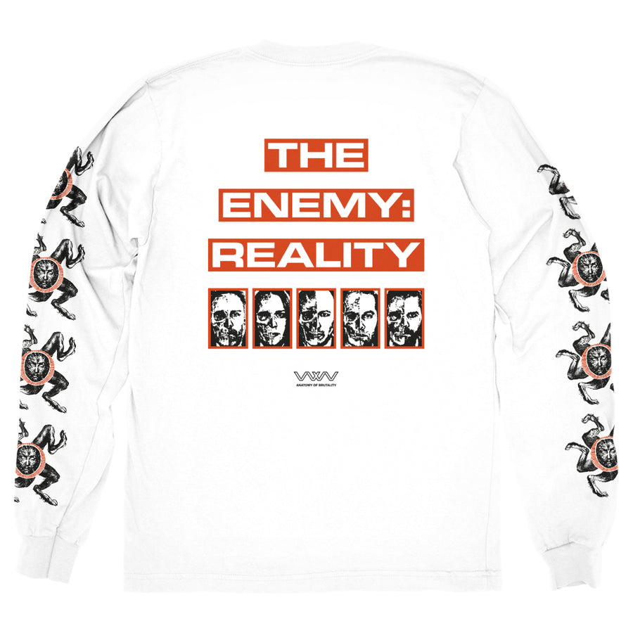 "WOLFBRIGADE ""The Enemy: Reality White"" Longsleeve"