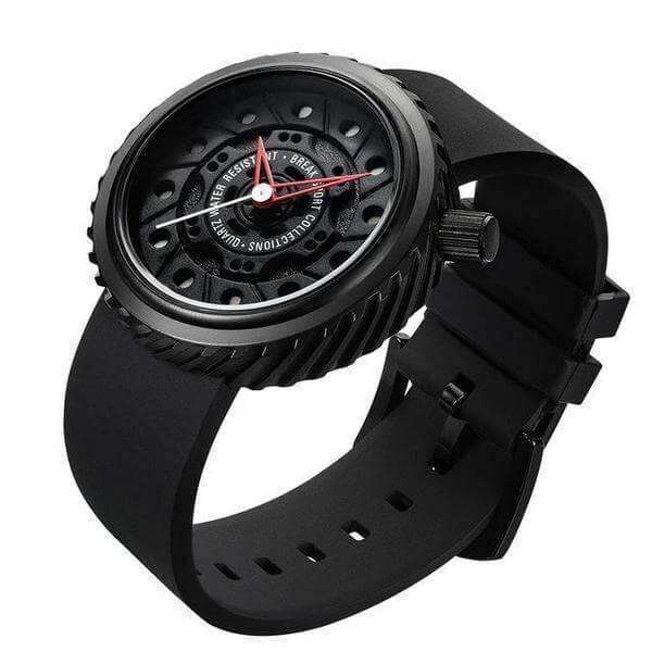 LIMITED EDITION BREAK Motorcycle Silver Rubber Strap Watch