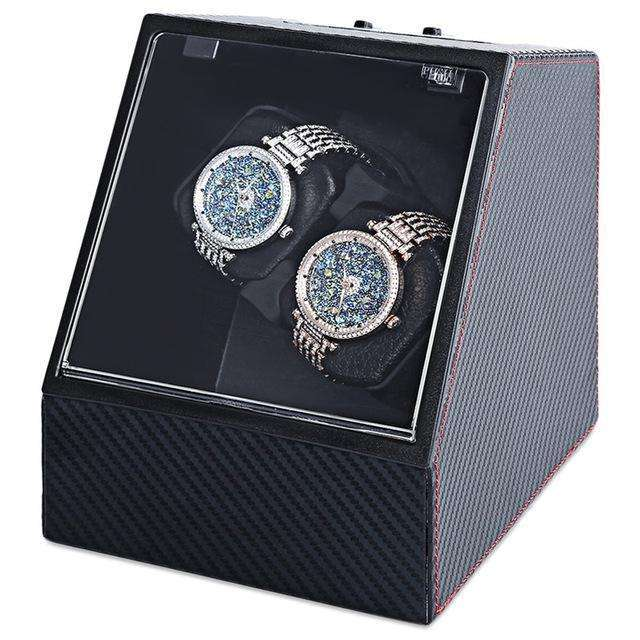 Automatic Watch Winder Display Box Carbon Fibre Look