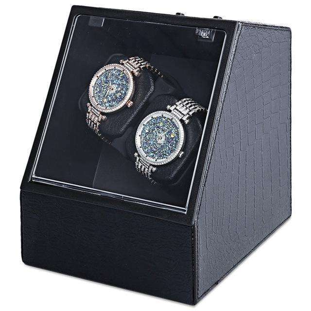 Automatic Watch Winder Display Box Leather Look