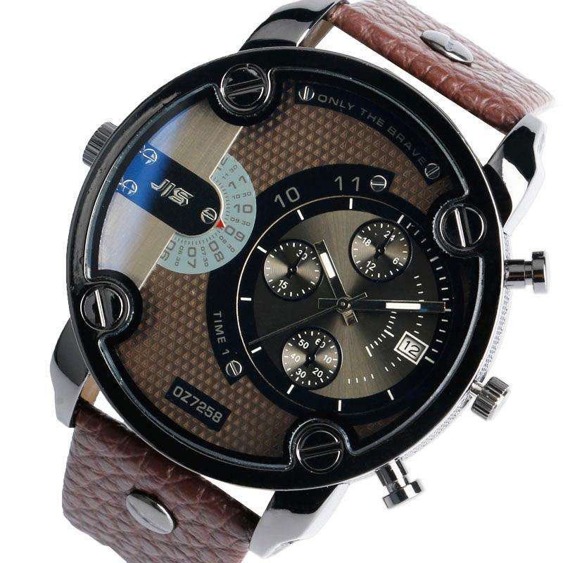 watches horloge jis collection multi grjis time product heren oranje functie traveller grey prisma