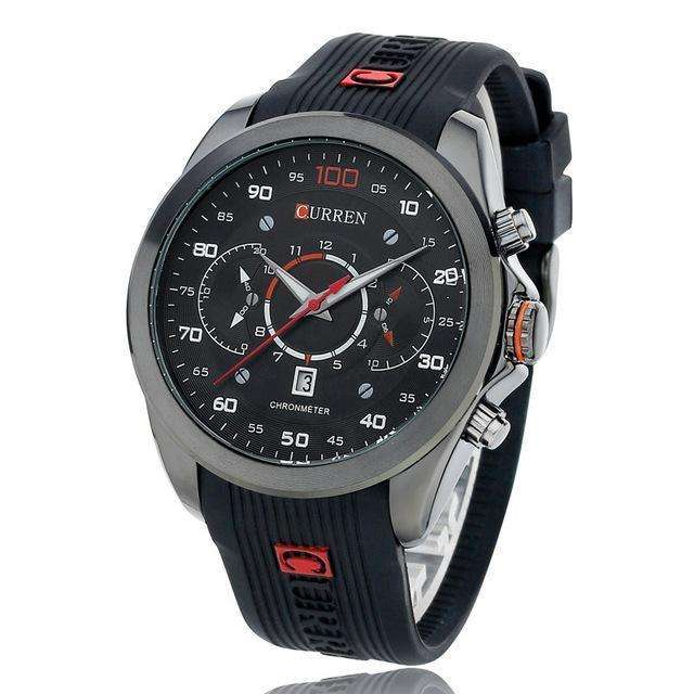 CURREN Luxury Silicon Stainless Steel Watch