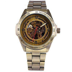 LIMITED EDITION Modern Automatic Gold Mechanical Watch Stainless Steel Band By Shenhua