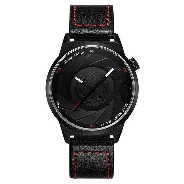 LIMITED EDITION Photographer Series Black And Red Leather Watch