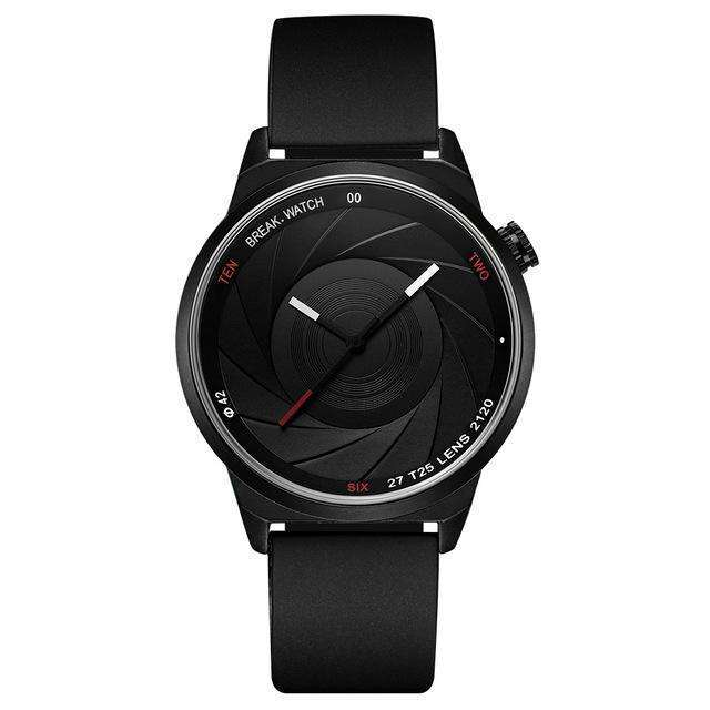 LIMITED EDITION Photographer Series Black Rubber Watch