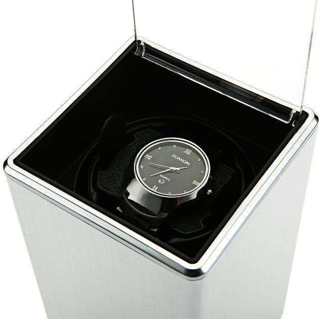 LIMITED EDITION White Smooth Automatic Rotation Watch Winder Display Box