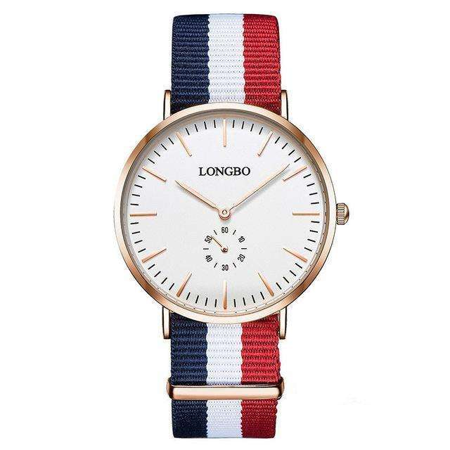 LONGBO Fashion 41mm Dial Nylon Braided Watch Unisex
