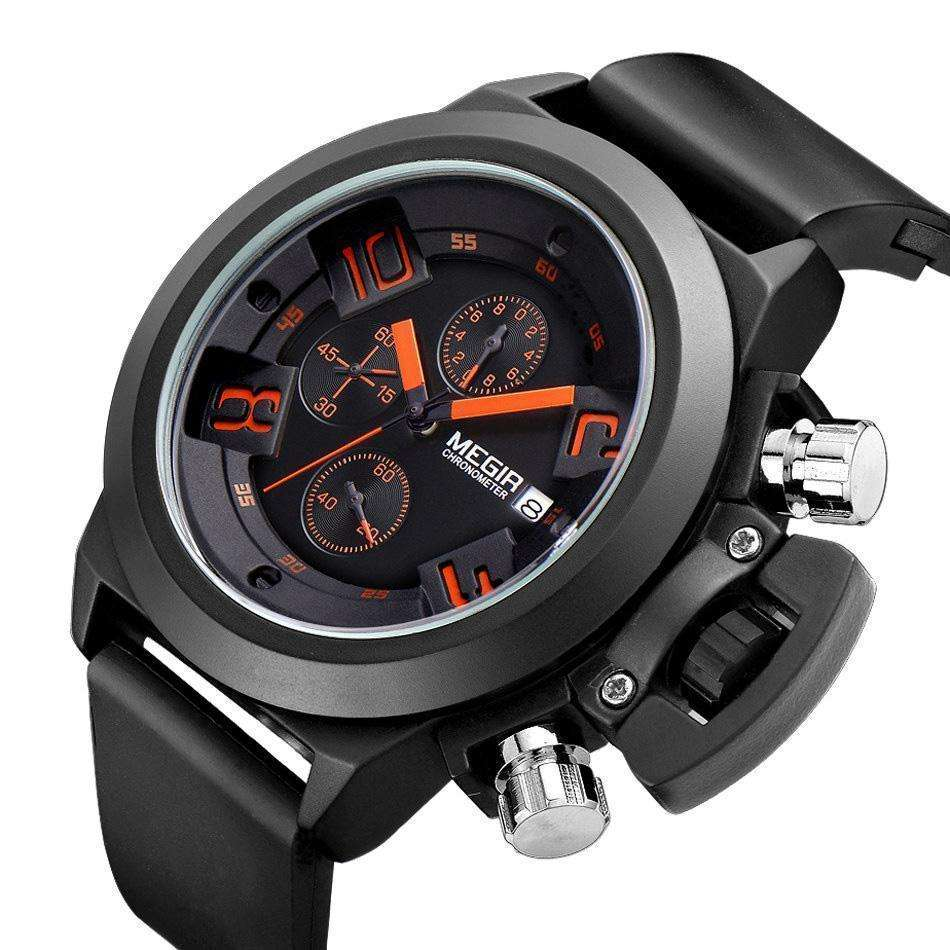 MEGIR Chronograph Luxury Silicone Watch