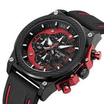 MEGIR Silicone Sport Chronograph Watch