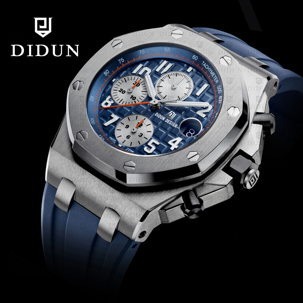 DIDUN Luxury Stainless Steel Watch