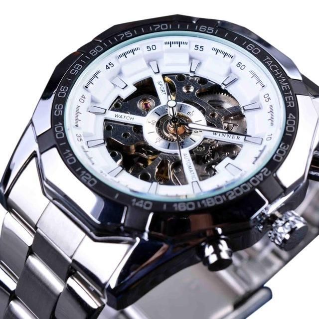 Stainless Steel Waterproof Watch By Forsining