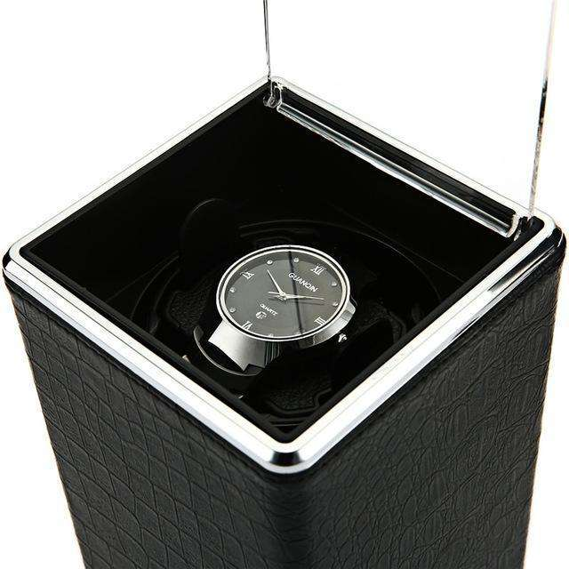 Rough Black Automatic Rotation Watch Winder Display Box