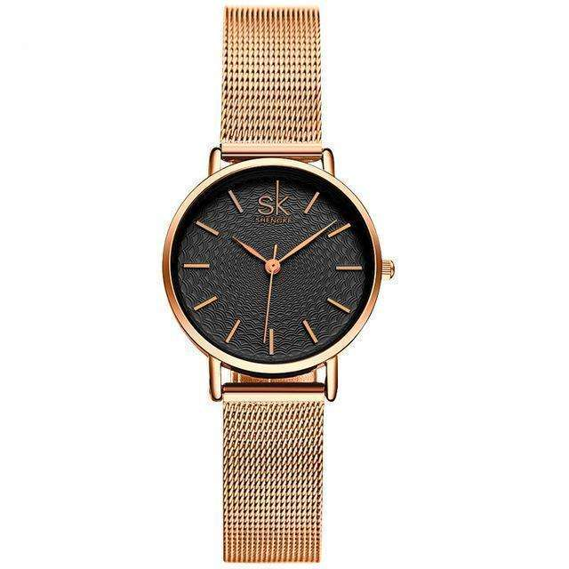 SK Golden Wrist Watch