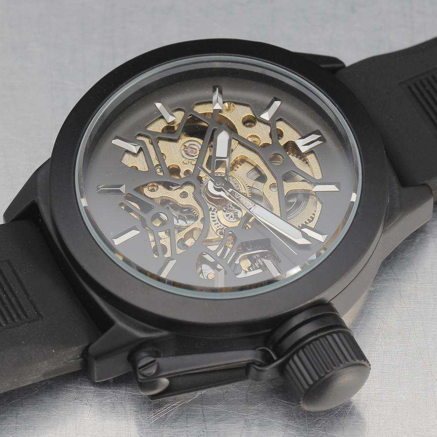 Skeleton Brown Mechanical Automatic Watch