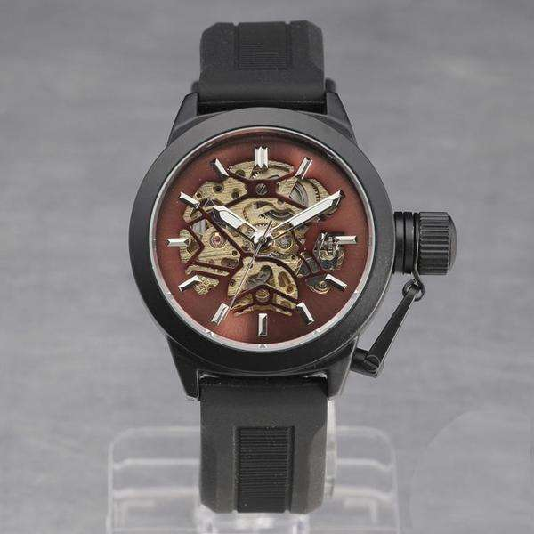 Skeleton Red Unisex Mechanical Automatic Watch