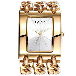 Square Dial Gold Bracelet Watch By WEIQIN
