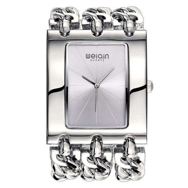 Square Dial Silver Bracelet Watch By WEIQIN